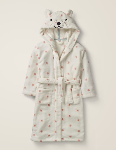 Novelty Dressing Gown - Chalky Pink Stars Bear