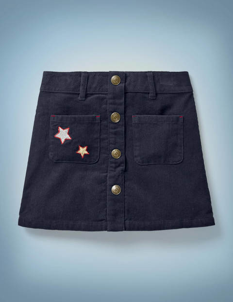 Harry Pocket Cord Skirt - Navy