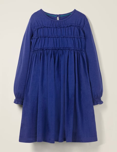 Everyday Ruffle Dress - Howlin Blue