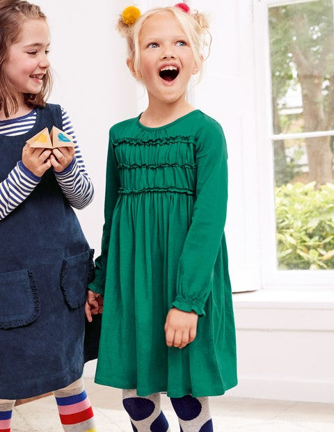 Everyday Smocked Dress - Hike Green