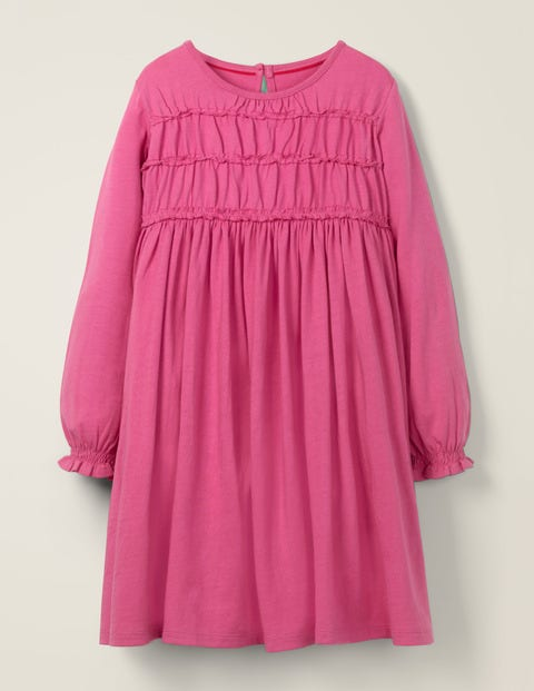 Everyday Ruffle Dress - Ruby Pink