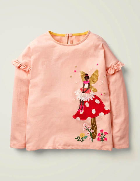 Fairy Appliqué T-Shirt - Provence Dusty Pink Fairy