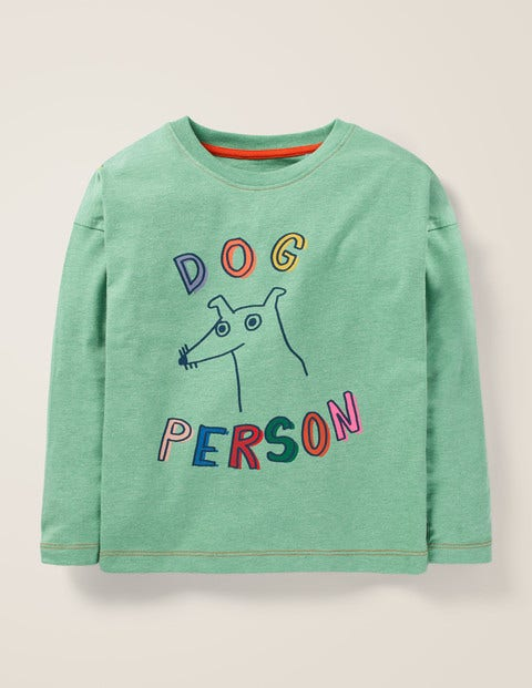 Pet Person T-Shirt - Mineral Green Marl Dog