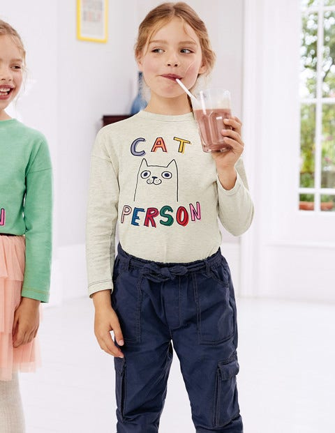 Pet Person T-Shirt - Oatmeal Marl Cat
