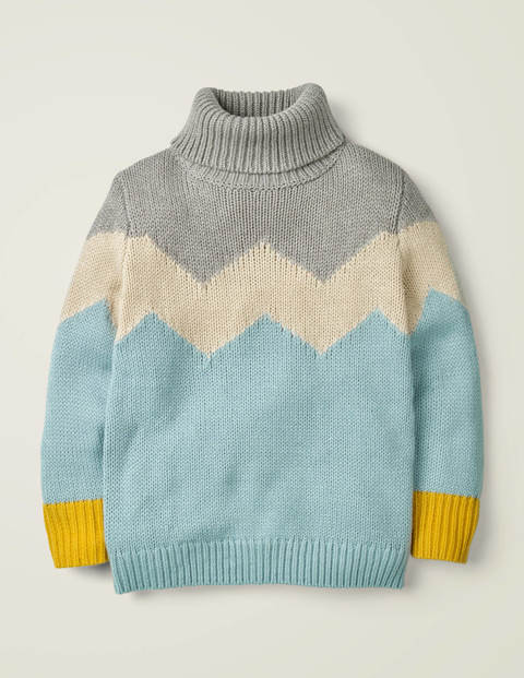 Roll Neck Sweater - Cloudburst Blue