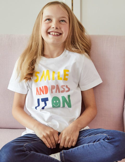 Smile Charity-T-Shirt - Weiß