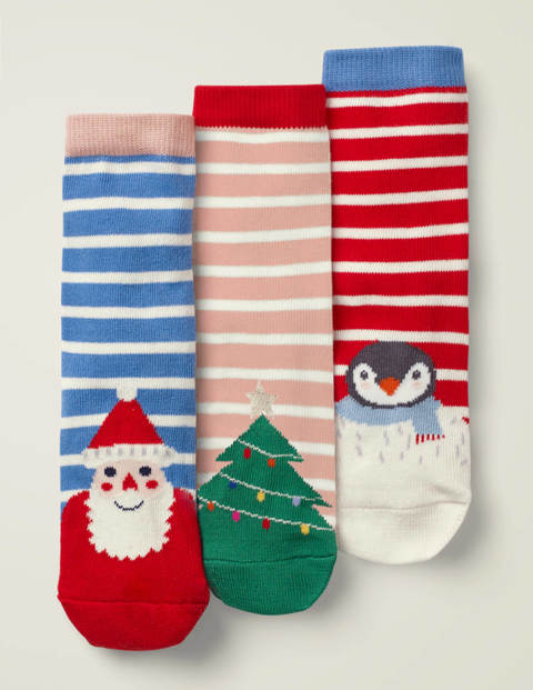 3 Pack Festive Socks - Jolly Christmas