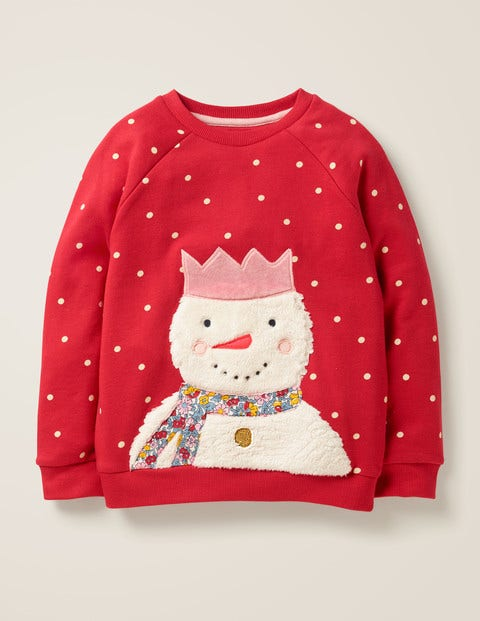 Cosy Fluffy Friends Sweatshirt - Polish Red Snowman
