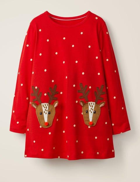 Festive Appliqué Jersey Tunic