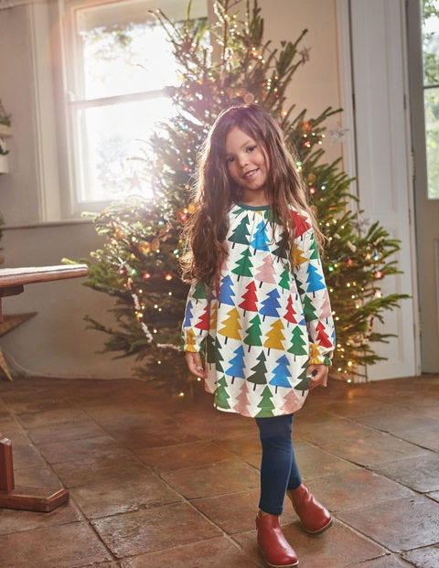 Printed Tunic - Multi Christmas Trees