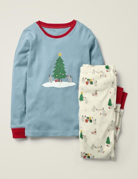 Cosy Long John Pajamas - Multi Penguins