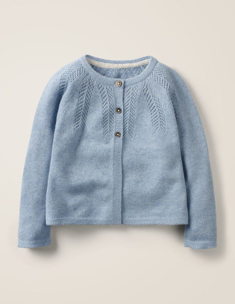 Cosy Cashmere Cardigan - Wren Blue Marl