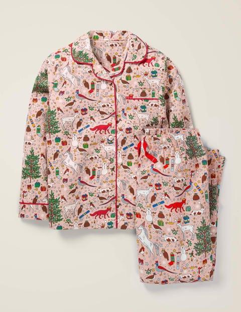 Festlicher Schlafanzug - Milchshake-Rosa, Festliche Familie