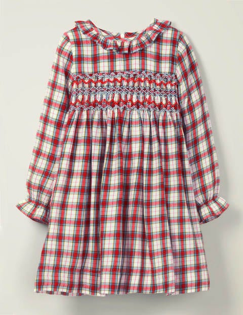 Cosy Smocked Check Dress
