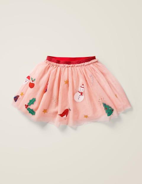 Mini Tüllrock mit festlichen Applikationen Pink Mädchen Boden, Pink pink |