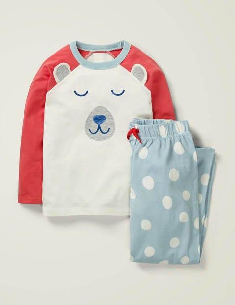 Originelles Pyjamaset - Wolkenblau, Eisbär