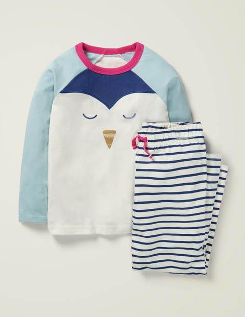 Cosy Novelty Pyjama Set - Ivory/Starboard Blue Penguin