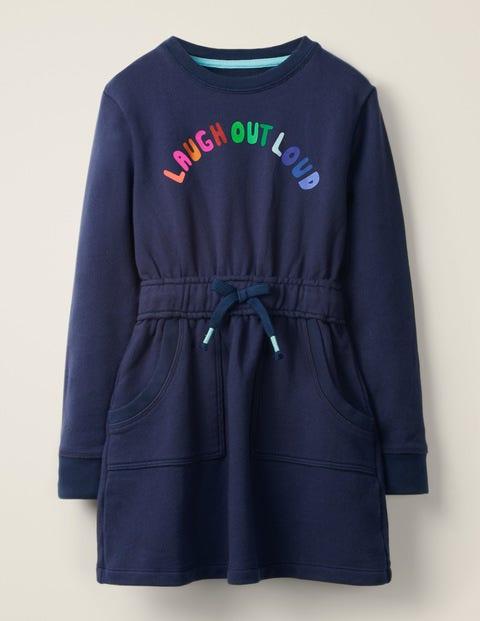 Sweatshirt-Kleid mit Spruch