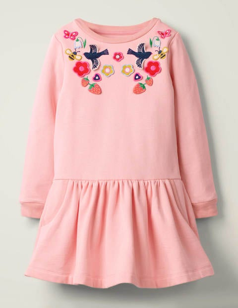 Cosy Appliqué Dress - Boto Pink Marl