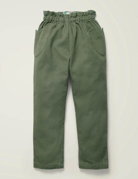 Pull-On Trousers - Herb Green