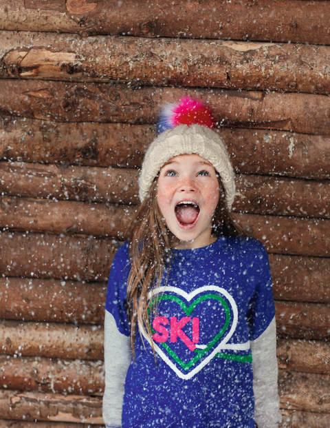 Sweatshirt Mit Ski-Herz - Nachtblau, Ski-Herz