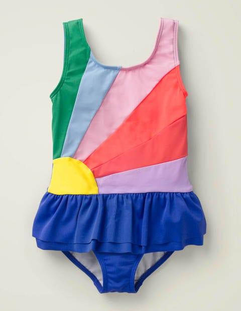 Novelty Appliqué Swimsuit - Cornflower Blue Rainbow