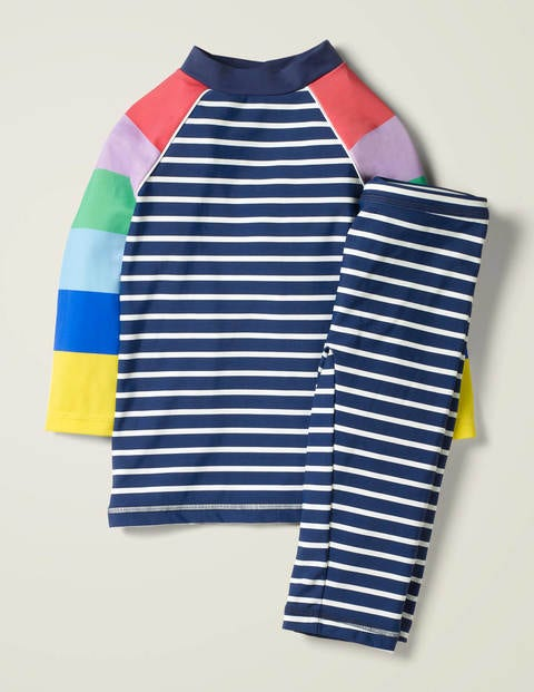 Fun Surf Set - Blue/Rainbow Stripes