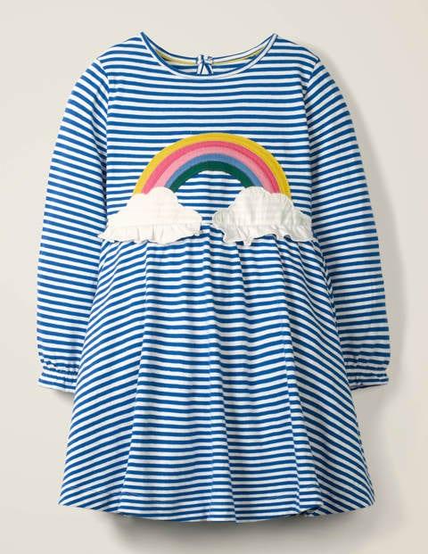 Fun Appliqué Jersey Dress