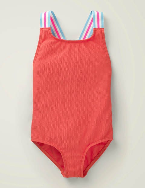 Textured Swimsuit - Sunset Red