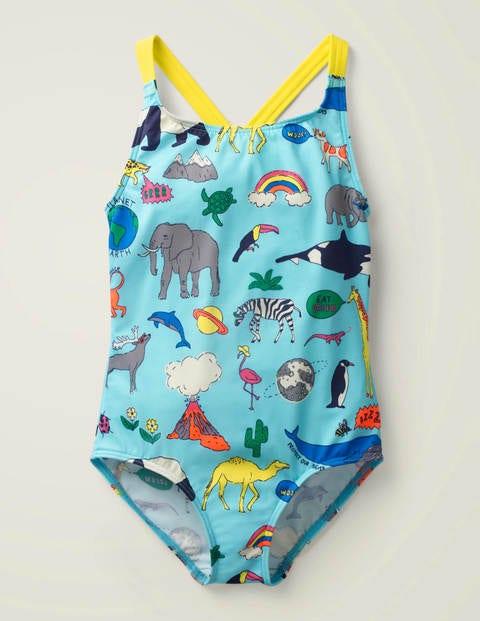 Natural World Swimsuit - Blue Animal Kingdom
