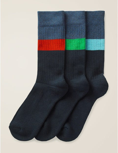 Chunky Weekend Socks - Colour Block Stripe Pack