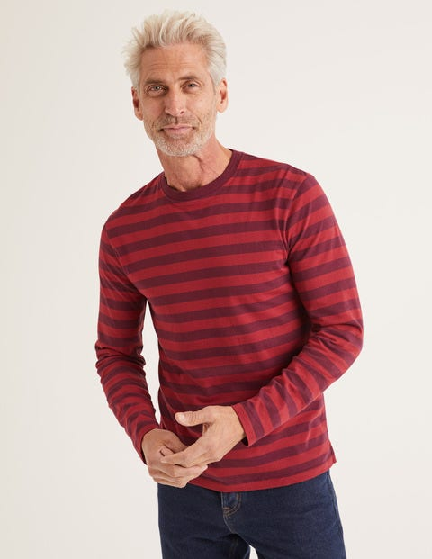 Long Sleeve Stripe T-Shirt - Mulberry/Sumac Stripe