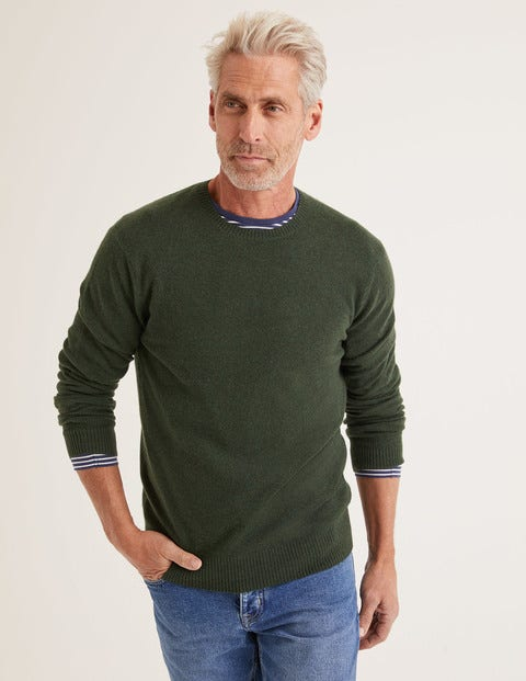 Cashmere Crew Neck - Evergreen