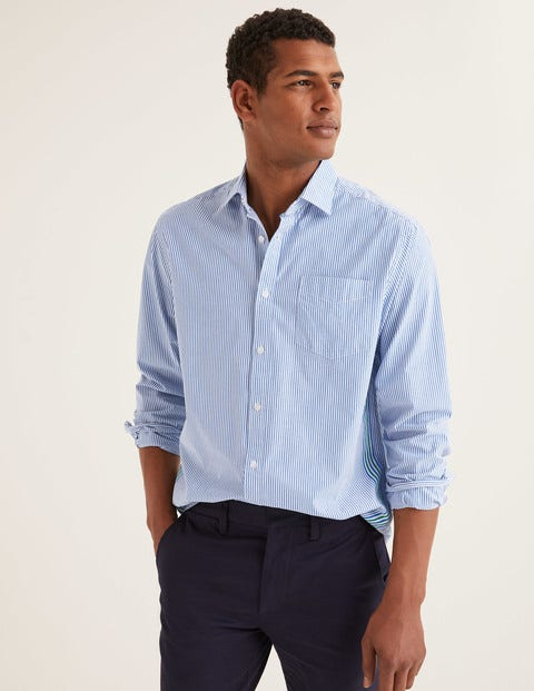 Poplin Pattern Shirt - Green Baize/Duke Stripe
