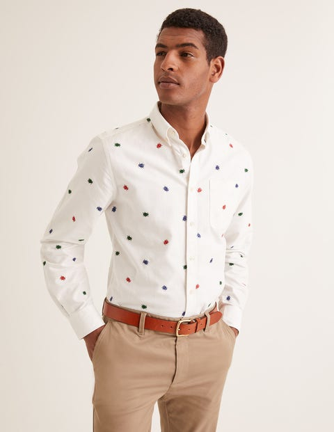 Slim Fit Oxford Pattern Shirt