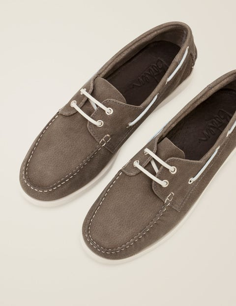Boat Shoes - Dove Grey