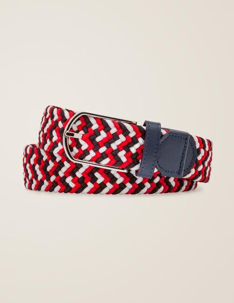 Webbing Belt - Red Multi
