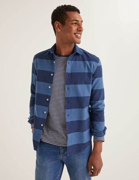 Slim Fit Indigo Stripe Shirt - Indigo Stripe