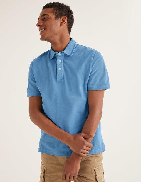 Garment-Dyed Polo - Chalk Blue