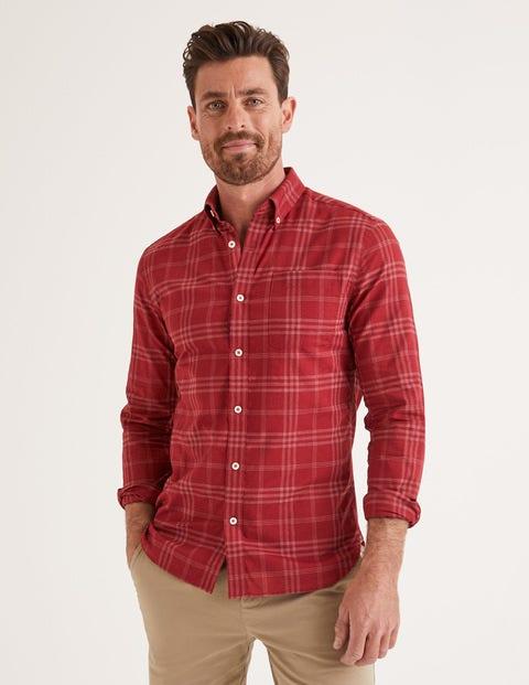 Slim Fit Overdye Shirt - Sumac
