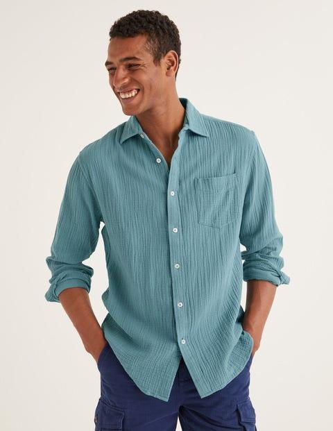 Arundel Doublecloth Shirt - Dusk Blue