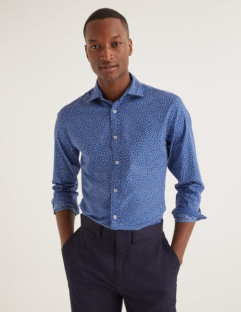 Slim Fit Printed Twill Shirt - Duke Scattered Floral