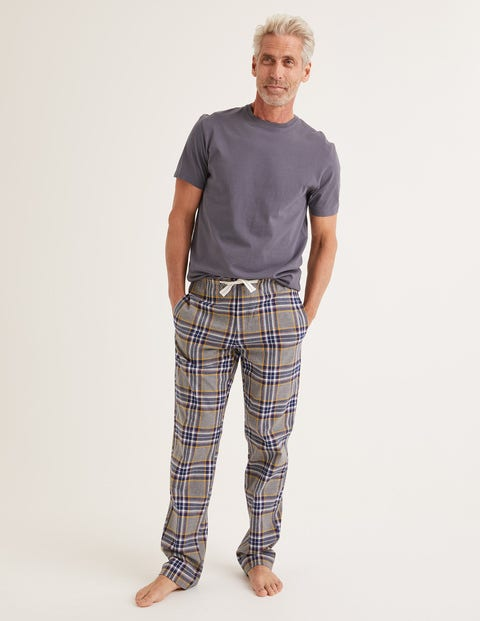 Flannel Pajama Bottoms - Grey Marl Multi Check