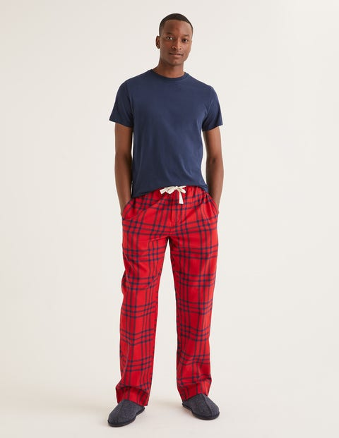Brushed Cotton Pyjama Bottoms - Rio Red Check