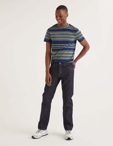Straight Leg Jeans - Dark Rinse Denim