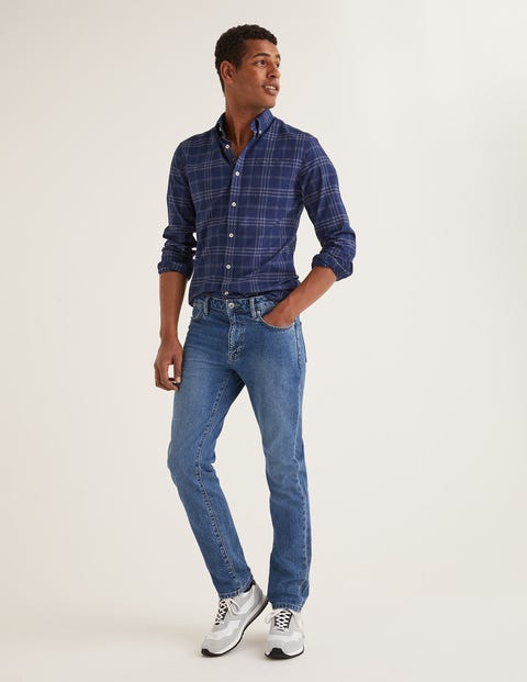 Slim Leg Jeans - Blue Wash Denim