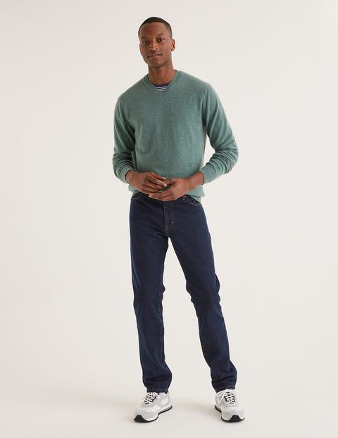 Slim Leg Jeans - Mid Wash Denim