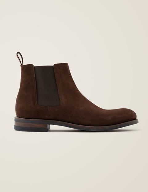 Corby Chelsea Boots - Chocolate Suede