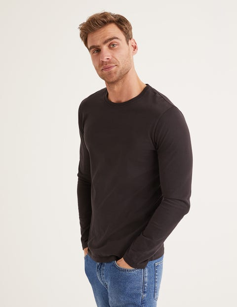 Long Sleeve Washed T-Shirt - Black