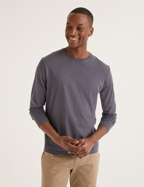Long Sleeve Washed T-Shirt - London Grey